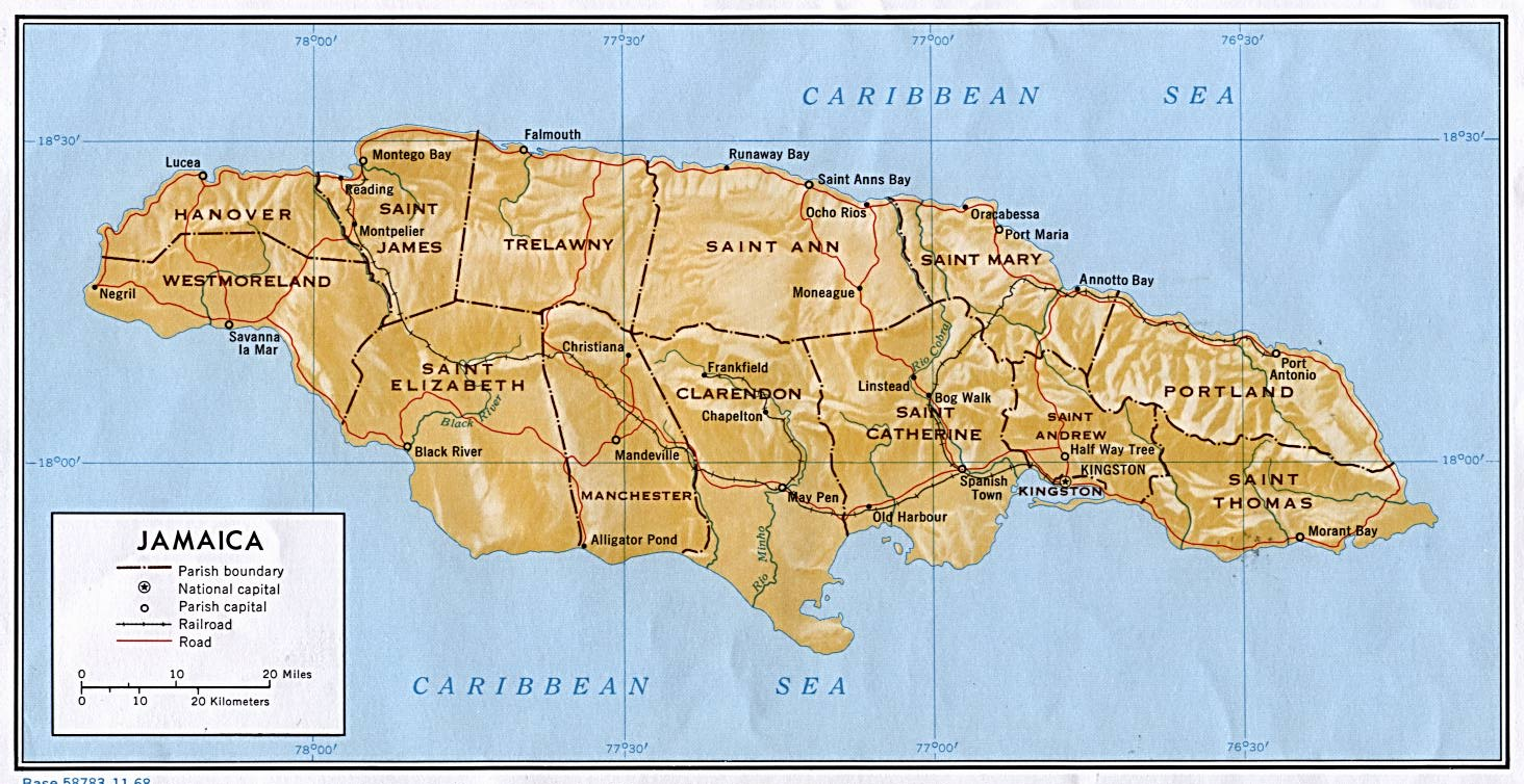 How The Parishes Came To Be  Jamaican Echoes