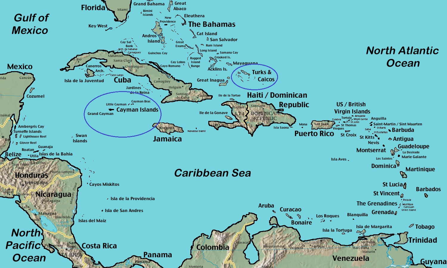 Did You Know Former Dependencies Of Jamaica Cayman Islands - Cayman islands map caribbean